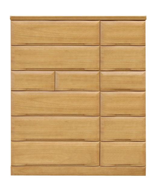 【送料無料】 日本製 ハイチェスト 【幅120 ナチュラル ブラウン 6段 木製 桐 桐タンス 収納 衣類 完成品】