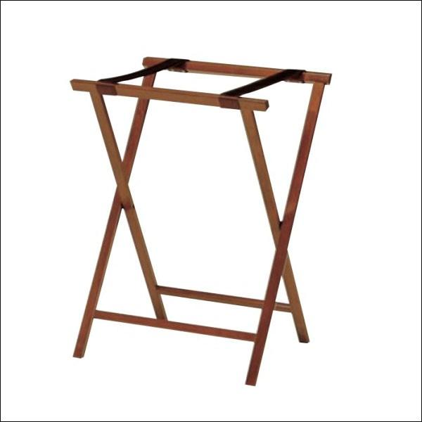 バゲージラック 折り畳み 木製 ハイタイプ ブラウン 送料無料