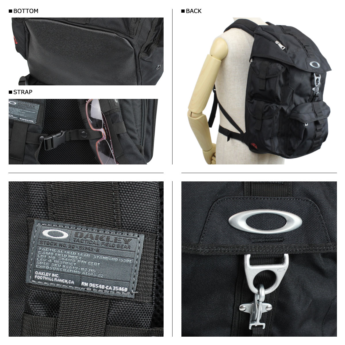 Point 2 x Oakley Oakley mens Backpack Rucksack 92607 limited express sleeper - 001 PACK DRY GOODS [9/14 new in stock]