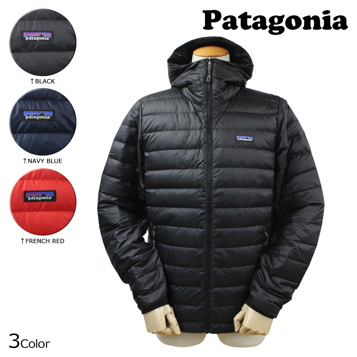 Patagonia Down Sweater Hoody Jacket Black WINTER SALE