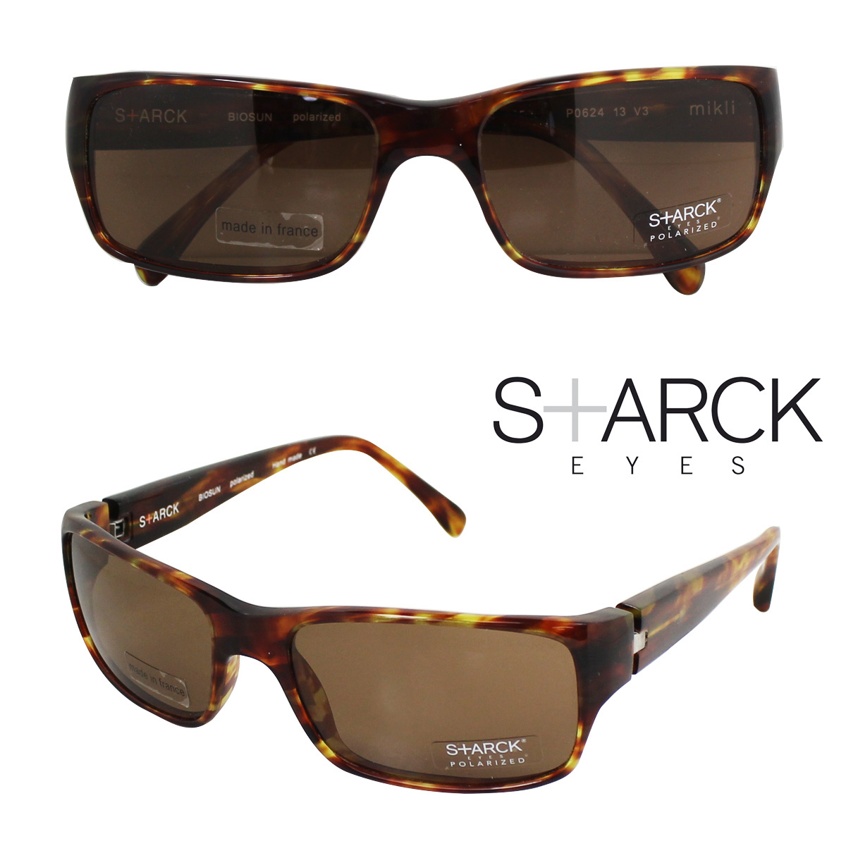 スタルクアイズ STARCK EYES アランミクリ サングラス メガネ 眼鏡 フランス製 メンズ レディース 【返品不可】