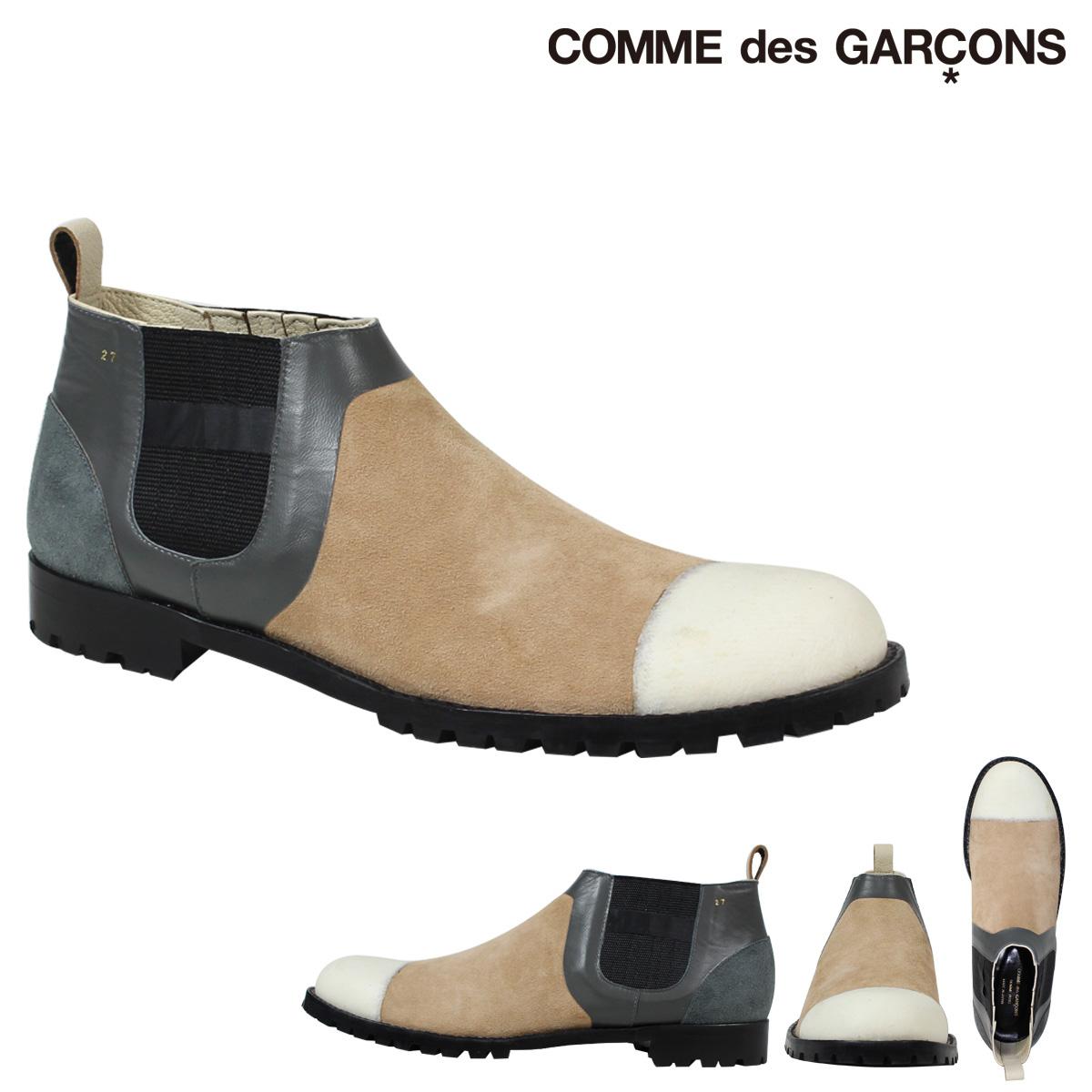 コムデギャルソン オムプリュス COMME des GARCONS HOMME PLUS サイドゴアブーツ シューズ ベージュ メンズhCQrsxtd