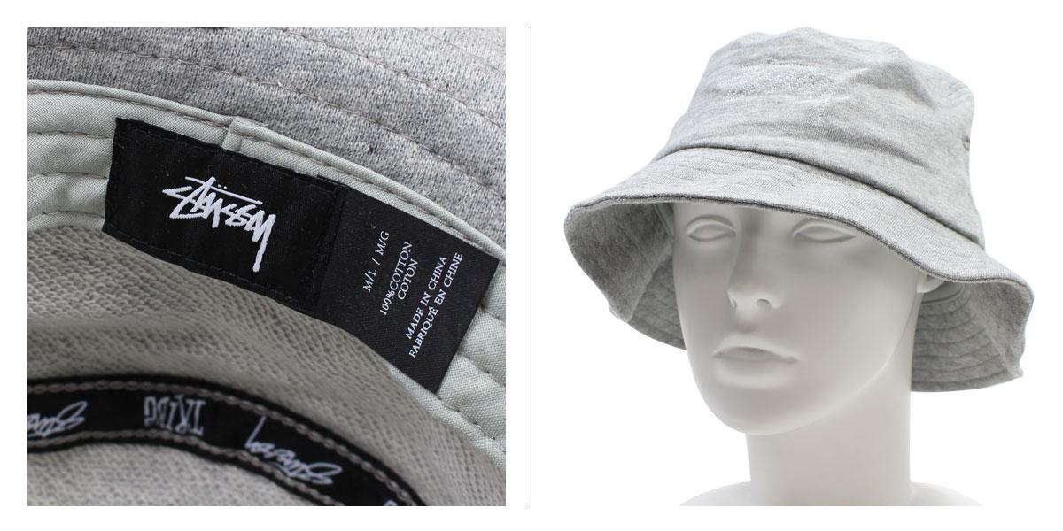 42a35e65c57 ステューシー hat Lady s STUSSY WOMEN women hat pail hat OUTLINE BUCKET HAT gray