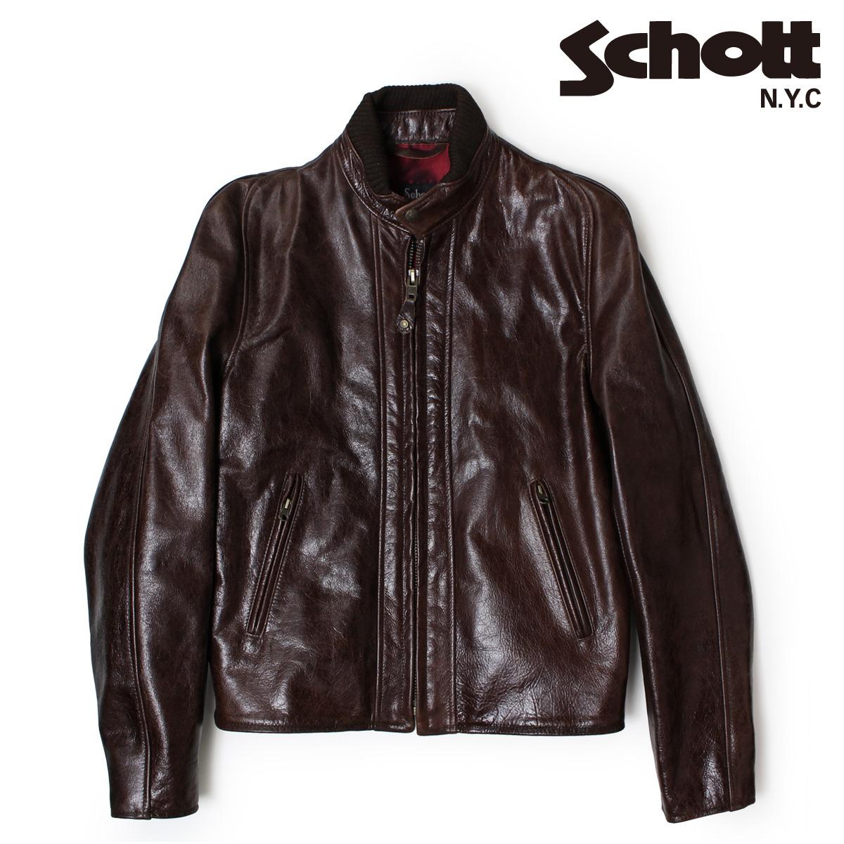 【最大2000円OFFクーポン】 ショット Schott ライダースジャケット ジャケット レザージャケット LEATHER JACKET 588 ANT メンズ
