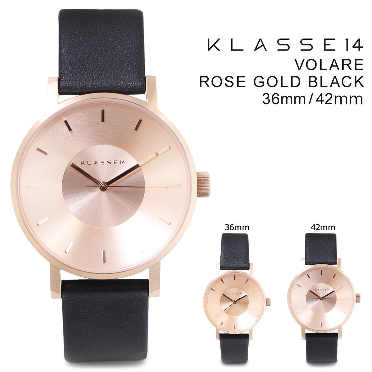 【最大2000円OFFクーポン】 【決算SALE】 KLASSE14 クラス14 腕時計 36mm 42mm メンズ レディース VOLARE ROSE GOLD BLACK ヴォラーレ VO14RG001M VO14RG001W