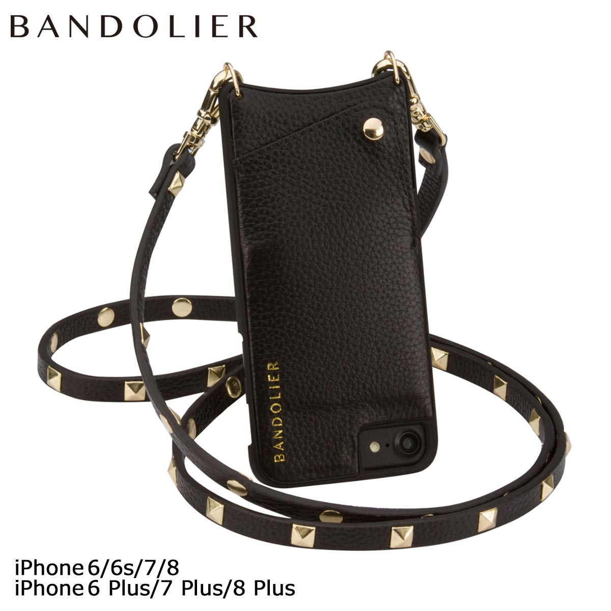 BANDOLIER バンドリヤー iPhone8 iPhone7 7Plus 6s ケース スマホ アイフォン プラス SARAH レザー スタッズ メンズ レディース