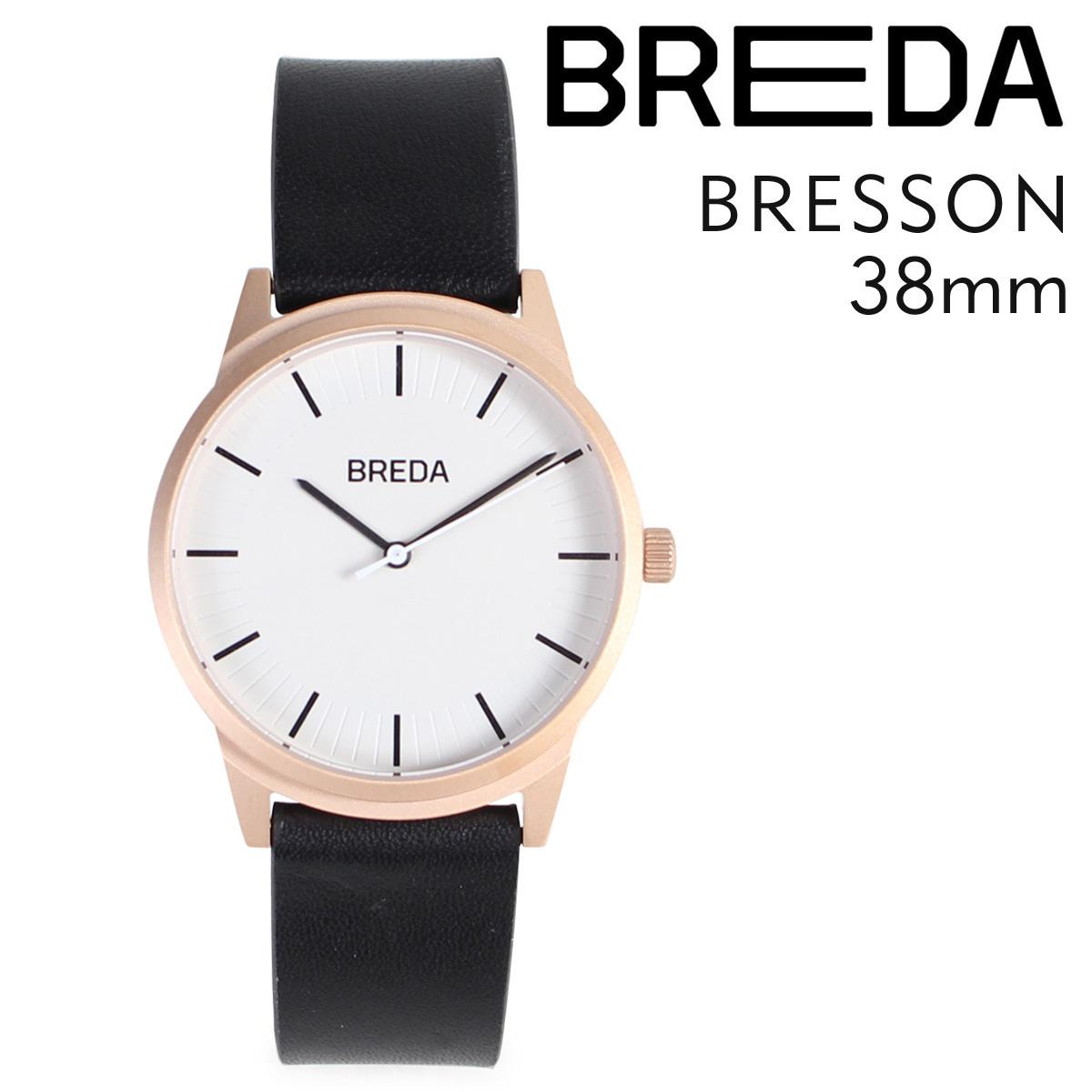 ブレダ BREDA 腕時計 38mm メンズ 時計 ブレッソン BRESSON 5020E ローズゴールド ブラック