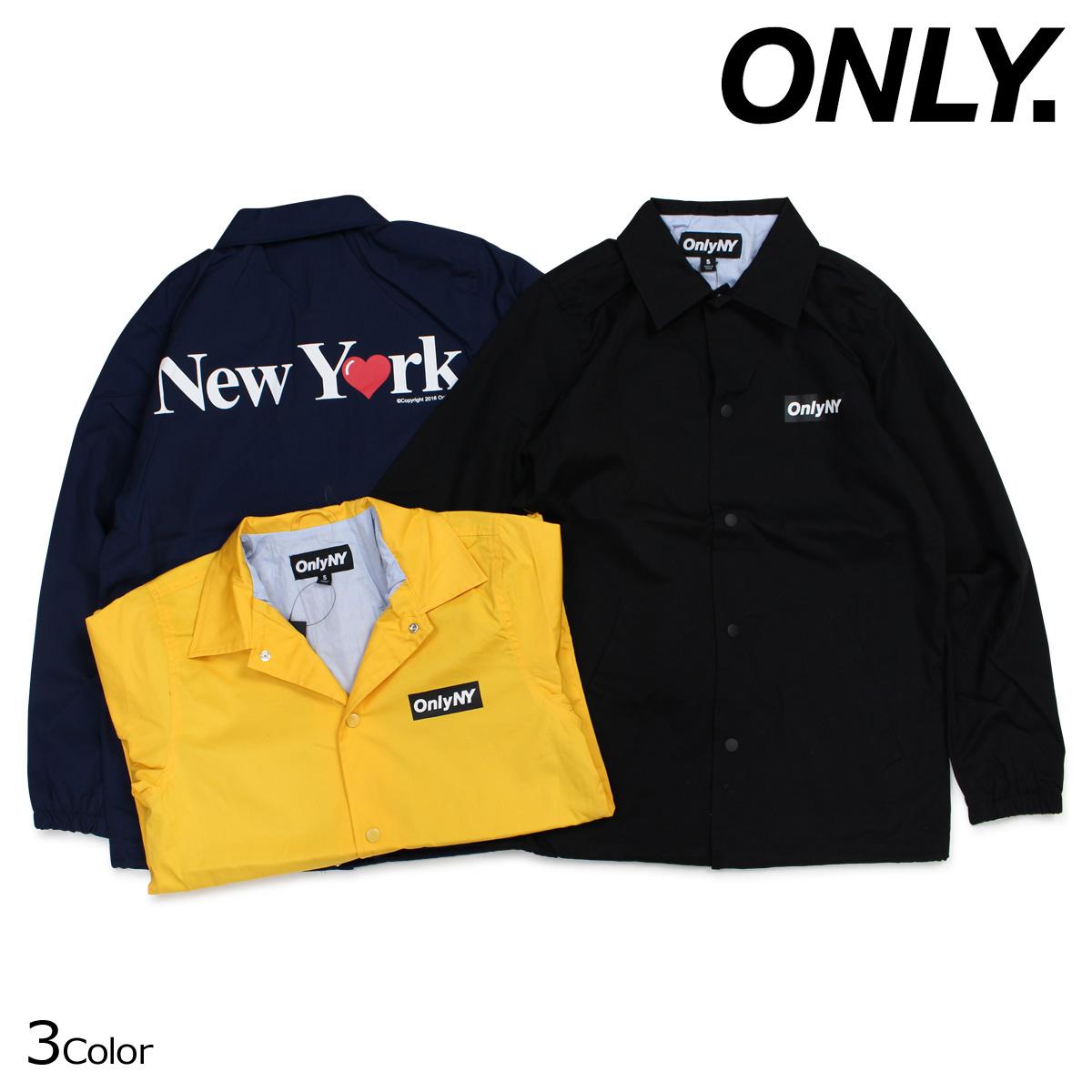 ONLY NY オンリーニューヨーク ジャケット コーチジャケット コットン メンズ アウター NEW YORK LOVE COACH JACKET 3カラー