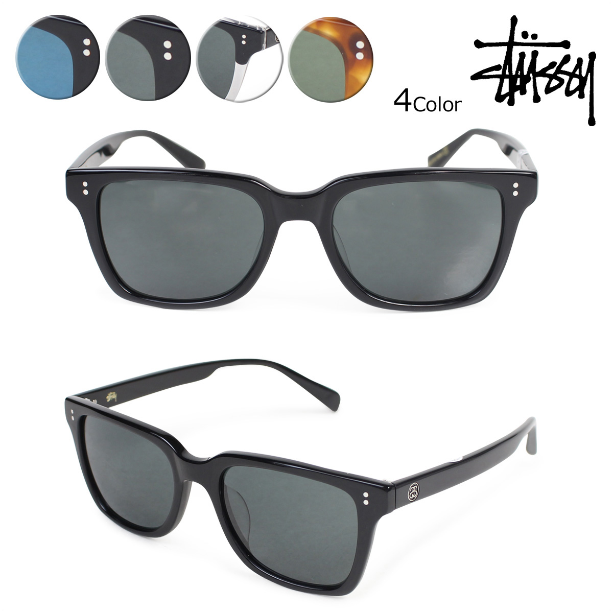 ステューシー STUSSY sunglasses men gap Dis UV cut Angelo ANGELO EYEGEAR 140014 4 color [6/15 Shinnyu load]