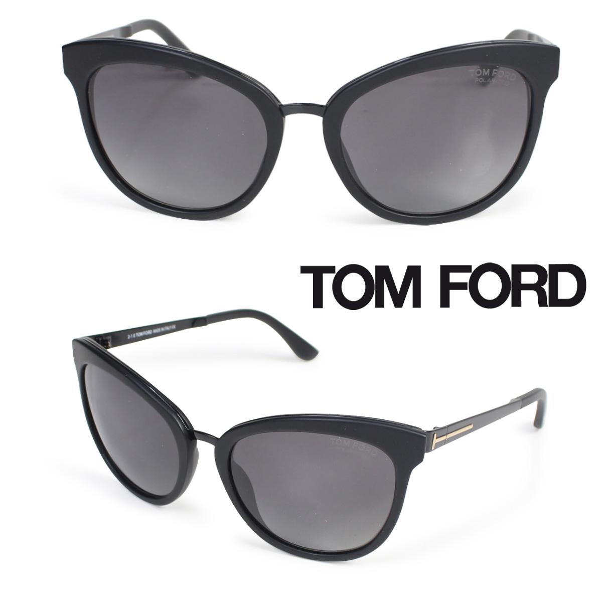【決算セール】 トムフォード TOM FORD サングラス メガネ レディース アイウェア FT0461 EMMA SUNGLASSES ブラック 【返品不可】