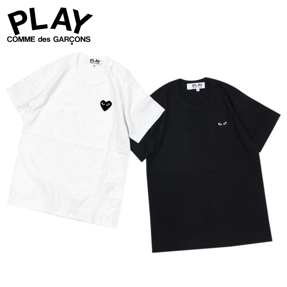 più recente 755a3 fe2ef コムデギャルソン PLAY COMME des GARCONS T-shirt Lady's short sleeves BLACK HEART  T-SHIRT black white AZ-T063