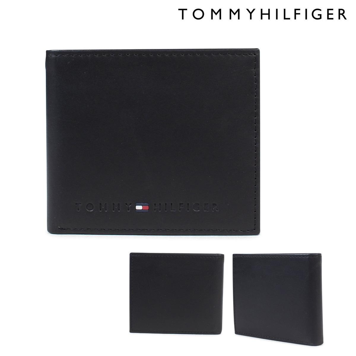 トミーヒルフィガー TOMMY HILFIGER 財布 二つ折り財布 メンズ レザー WALLESLEY BI-FOLD WALLET 4859 31TL25X005-001 ブラック