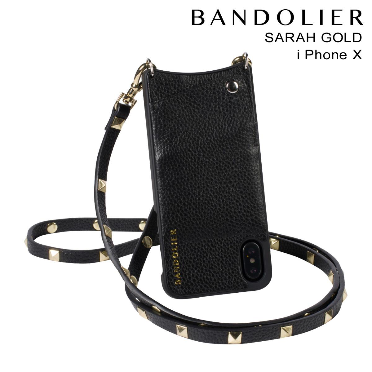 BANDOLIER バンドリヤー iPhone X ケース スマホ 携帯 アイフォン SARAH GOLD レザー メンズ レディース