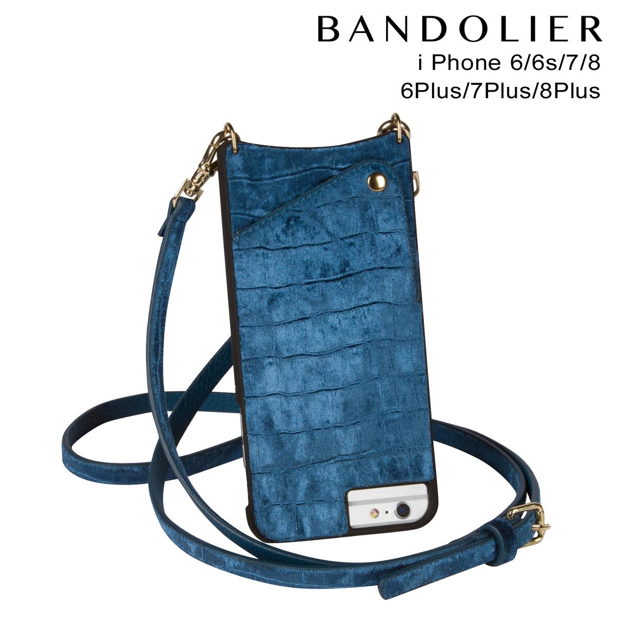 BANDOLIER バンドリヤー iPhone8 iPhone7 7Plus 6s ケース スマホ アイフォン プラス EMMA VELVET ベルベット メンズ レディース ブルー