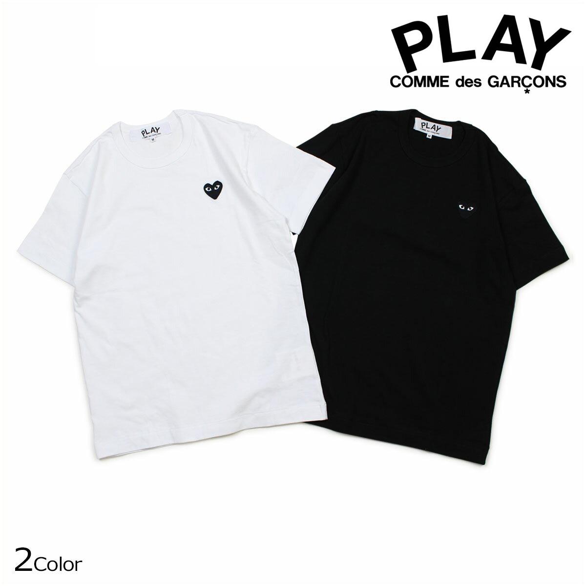 コムデギャルソン PLAY Tシャツ 半袖 COMME des GARCONS メンズ BLACK HEART T-SHIRT ブラック ホワイト AZT064 [10/3 再入荷]