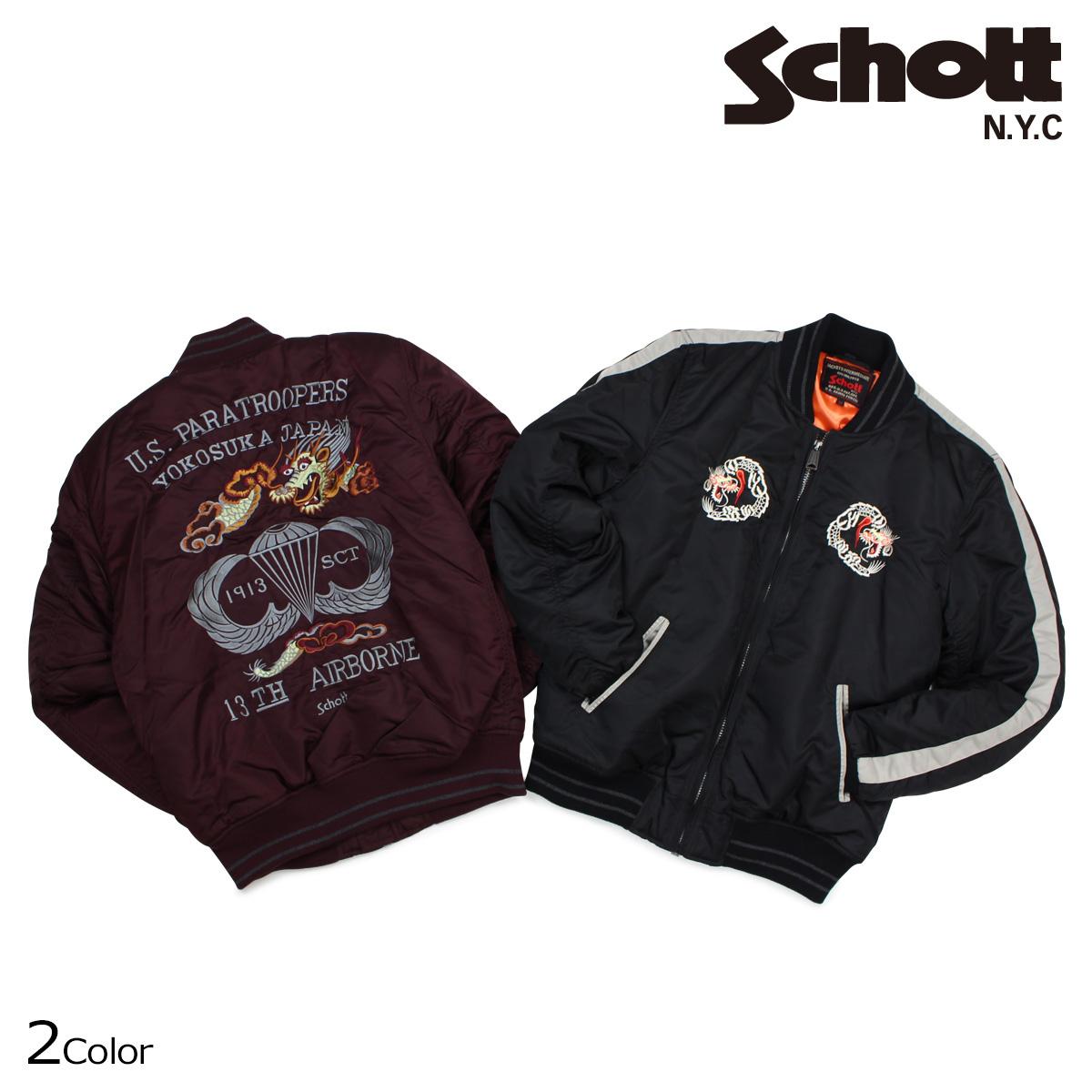 ショット Schott ジャケット ナイロンジャケット スカジャン NYLON TOUR JACKET メンズ 9630 【決算セール 返品不可】