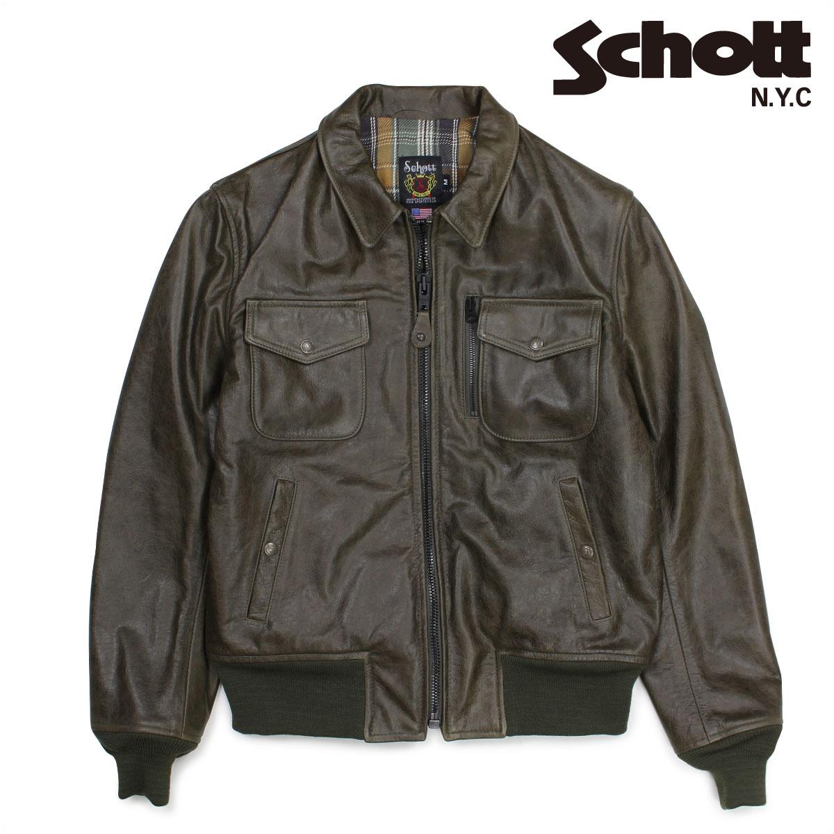 ショット Schott ライダースジャケット ジャケット レザージャケット メンズ PERFECTO LEATHER JACKET オリーブ 648 【決算セール 返品不可】