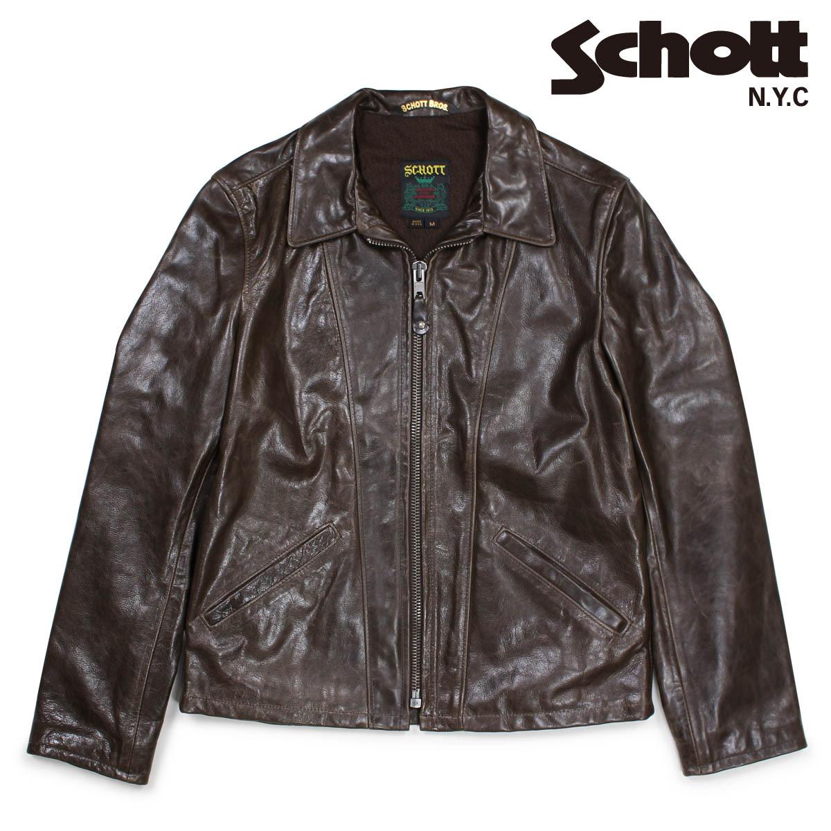 爆売り! ショット JACKET Schott ブラウン ジャケット トラッカージャケット メンズ レザージャケット メンズ TRUCKER JACKET ブラウン 553, キャンペーン365:520618c7 --- canoncity.azurewebsites.net