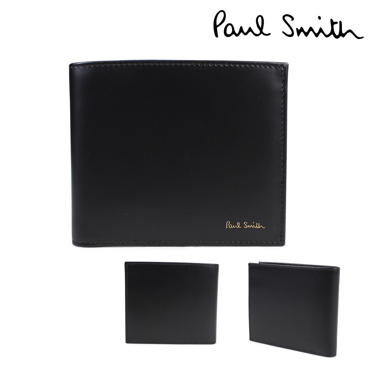 【最大2000円OFFクーポン】 ポールスミス 財布 メンズ 二つ折り Paul Smith SMART WALLET レザー ブラック 4833 W761A 79