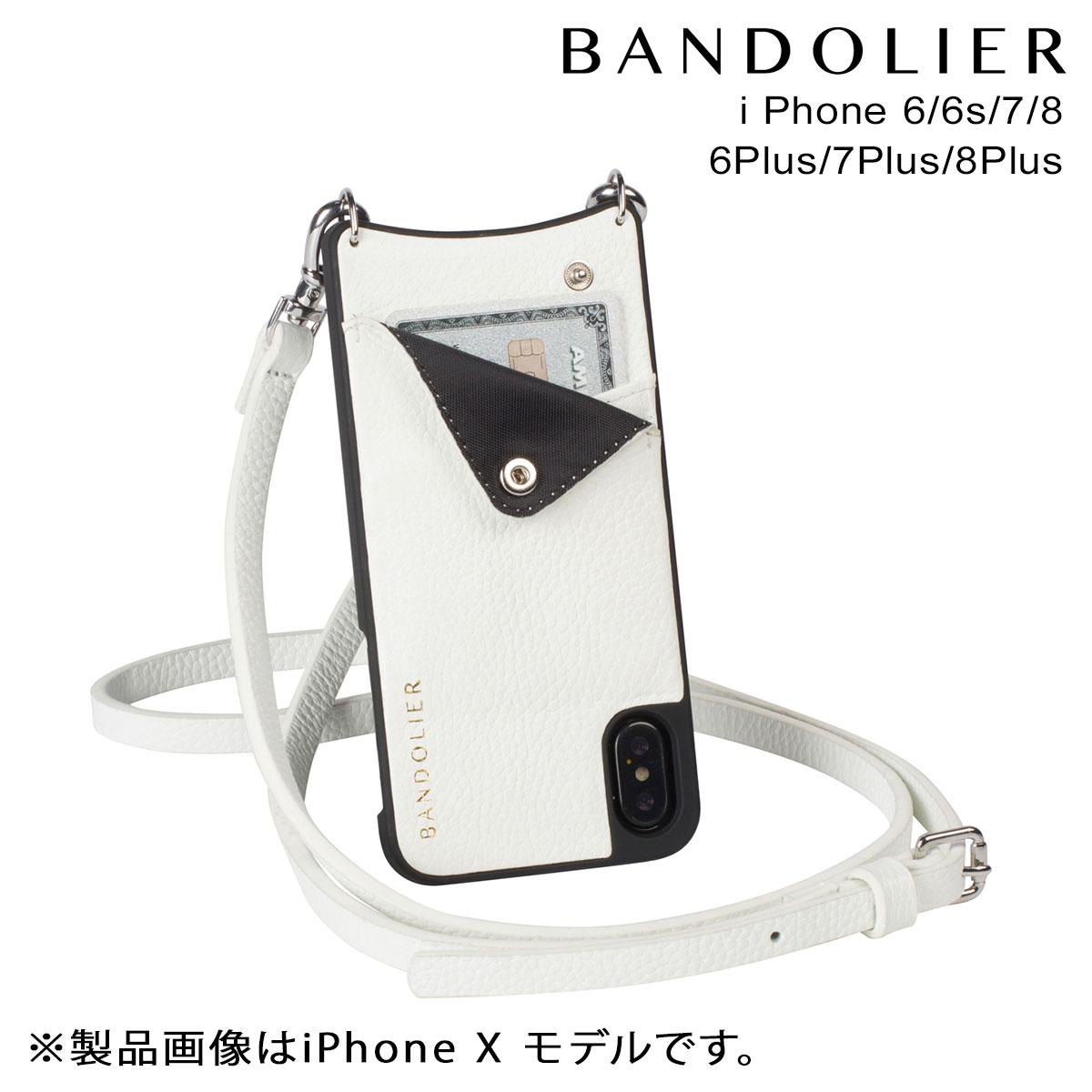 【最大2000円OFFクーポン配布】 BANDOLIER バンドリヤー iPhone8 iPhone7 7Plus 6s ケース スマホ アイフォン プラス EMMA WHITE レザー メンズ レディース [9/14 再入荷]