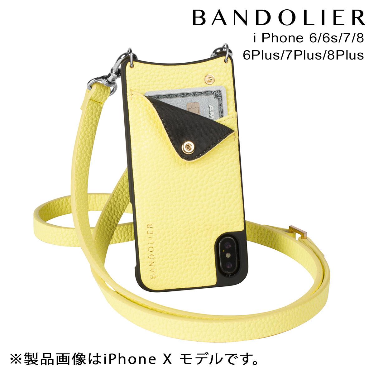BANDOLIER バンドリヤー iPhone8 iPhone7 7Plus 6s ケース スマホ アイフォン プラス CARLY YELLOW レザー メンズ レディース