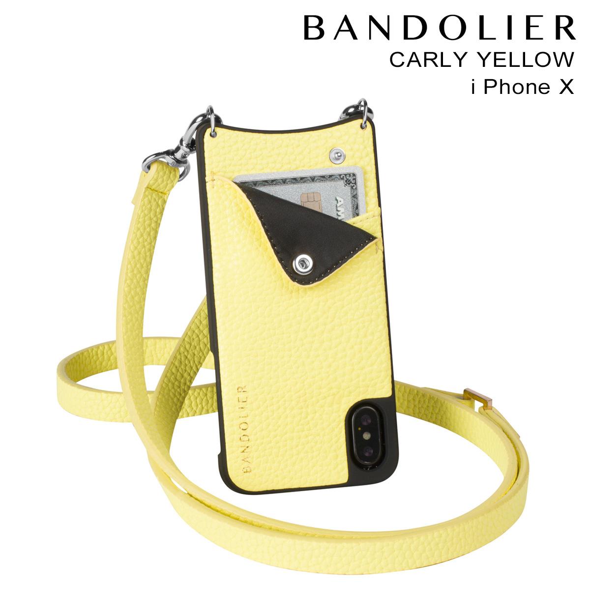 BANDOLIER バンドリヤー iPhoneX ケース スマホ アイフォン CARLY YELLOW レザー メンズ レディース