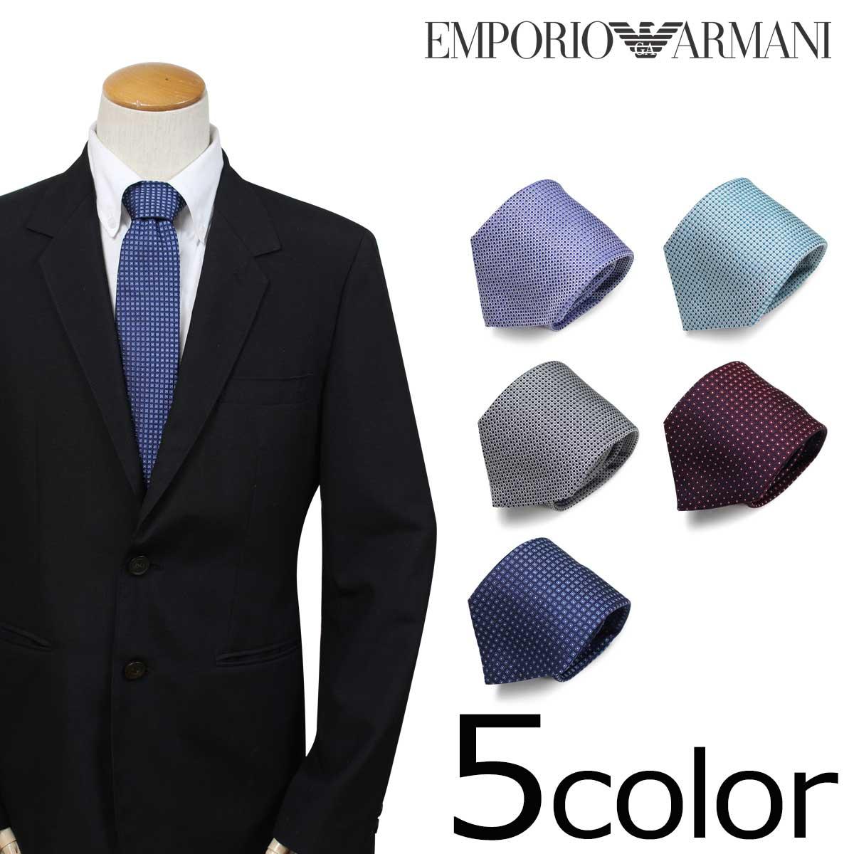 エンポリオ アルマーニ ネクタイ EMPORIO ARMANI イタリア製 シルク ビジネス 結婚式 メンズ [9/5 追加入荷]
