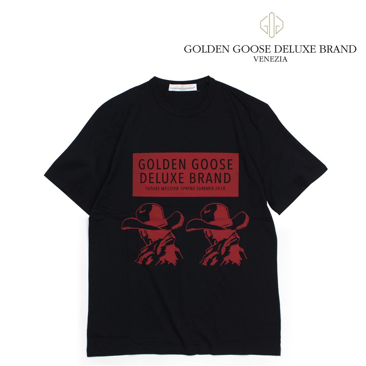 ゴールデングース Golden Goose Tシャツ メンズ 半袖 ブラック G32MP524A1 【決算セール 返品不可】