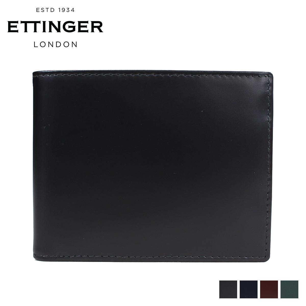 エッティンガー ETTINGER 財布 二つ折り メンズ BRIDLE BILLFOLD WITH 3 C/C & PURSE ブラック ネイビー ブラウン BH141JR [9/7 再入荷]