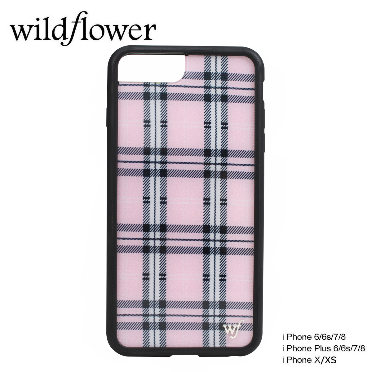 premium selection 9649d e0d86 wildflower wild flower iPhone8 X 7 iPhone case 6 6s Plus smartphone  eyephone Lady's check pink PPLA