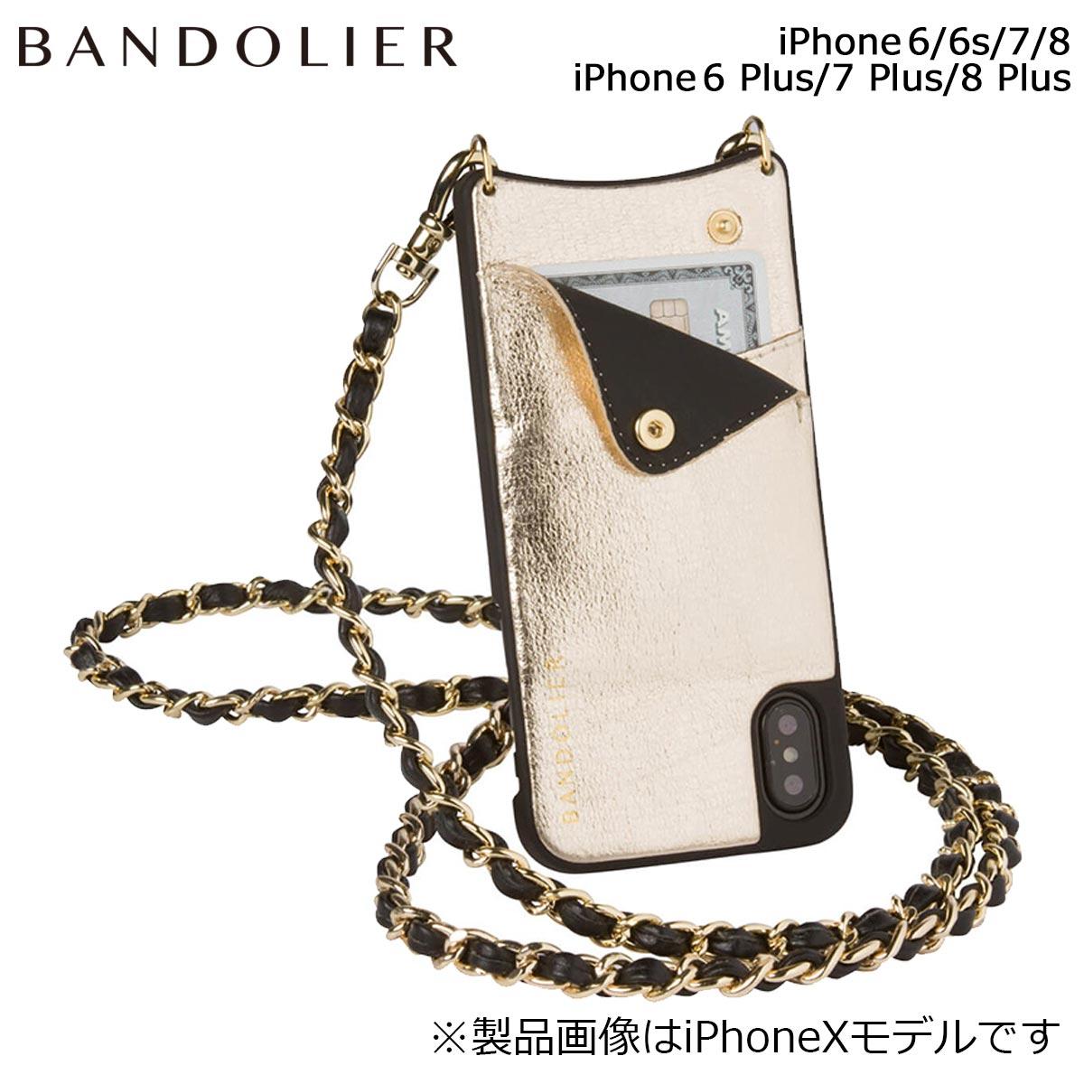 BANDOLIER バンドリヤー iPhone8 iPhone7 7Plus 6s ケース スマホ アイフォン プラス LUCY METALLIC GOLD メンズ レディース ゴールド
