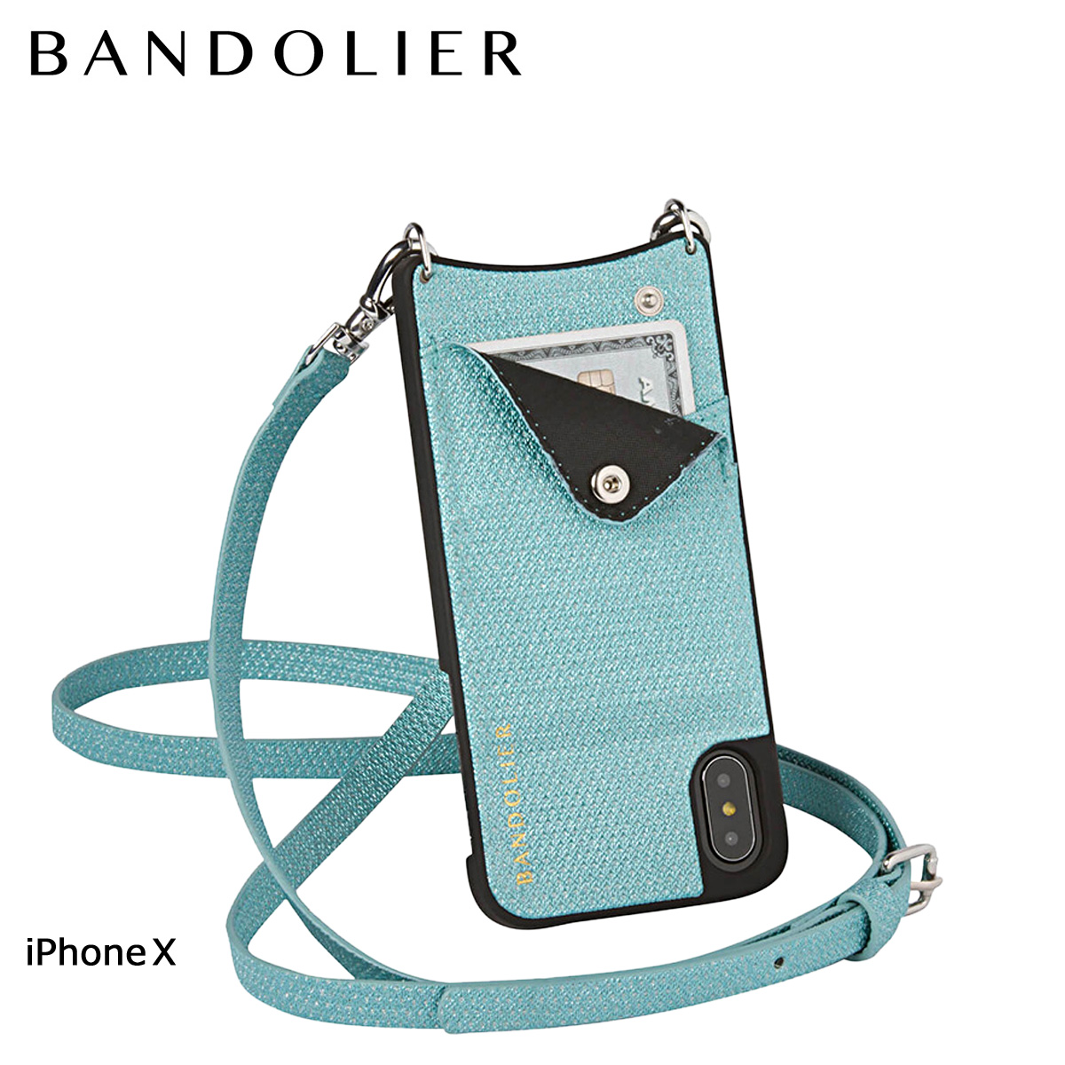 BANDOLIER バンドリヤー iPhoneX ケース スマホ アイフォン EMMA GREEN SPARKLE レザー メンズ レディース [6/1 新入荷] 【決算セール 返品不可】, 厚真町:00233531 --- pascalcaffet.jp