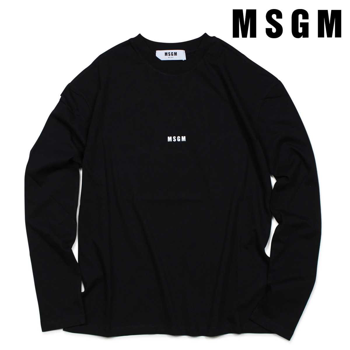 MSGM Tシャツ レディース エムエスジーエム 長袖 ロンT LOGO LONG SLEEVED SHIRTS WITH MICRO LOGO ブラック 2541MDM101 184798 [7/19 新入荷], ミリタリーWAIPER:fc44bc4d --- flets116.jp
