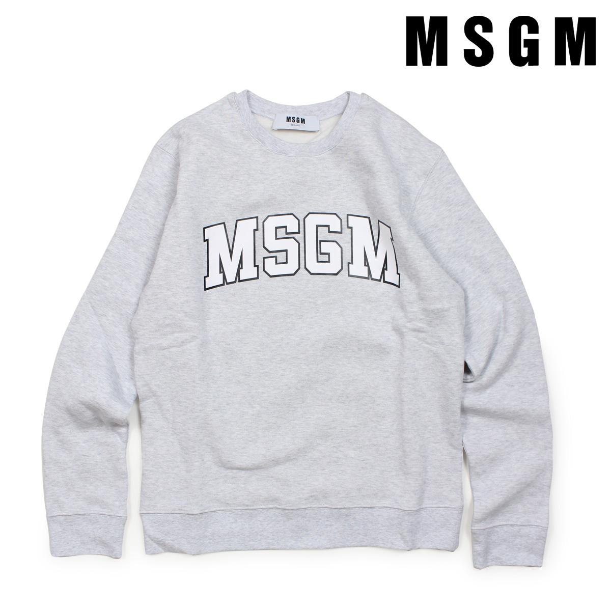 MSGM トレーナー スウェット レディース エムエスジーエム LONG SLEEVED SHIRTS グレー 2541MDM163 184769