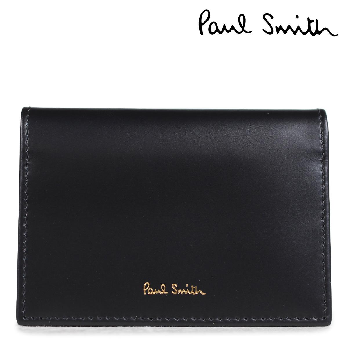 ポールスミス 名刺入れ メンズ カードケース Paul Smith FOLD OVER CREDIT CARD CASE 4776 W761A 79 ブラック