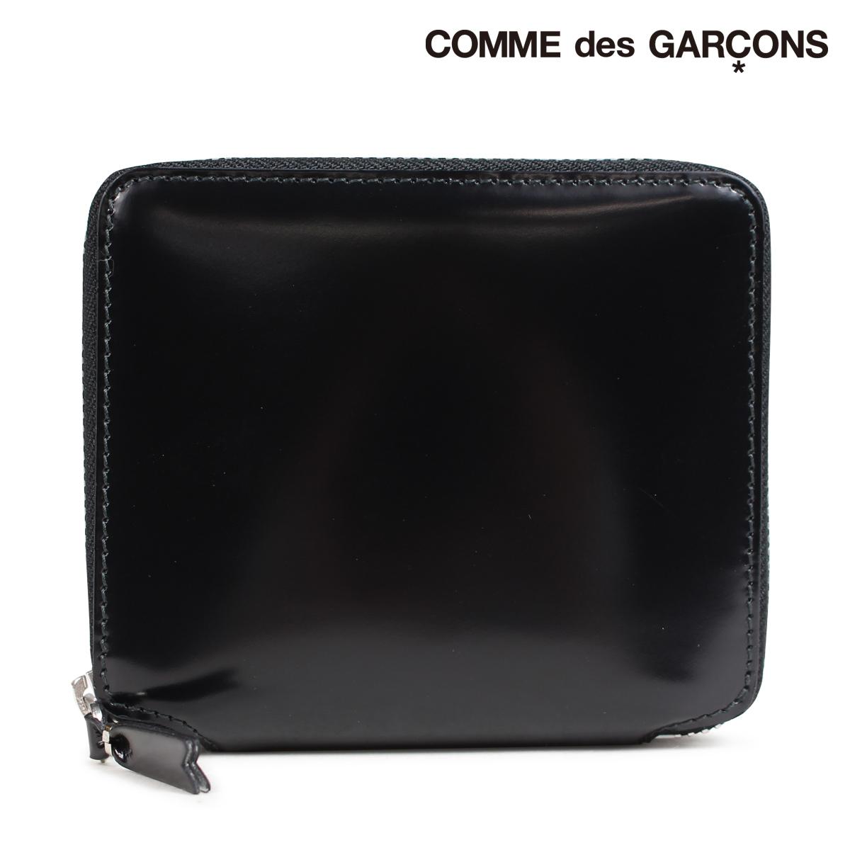 コムデギャルソン COMME des GARCONS 財布 二つ折り メンズ レディース ラウンドファスナー ブラック 黒 SA2100MIrCxshQdt