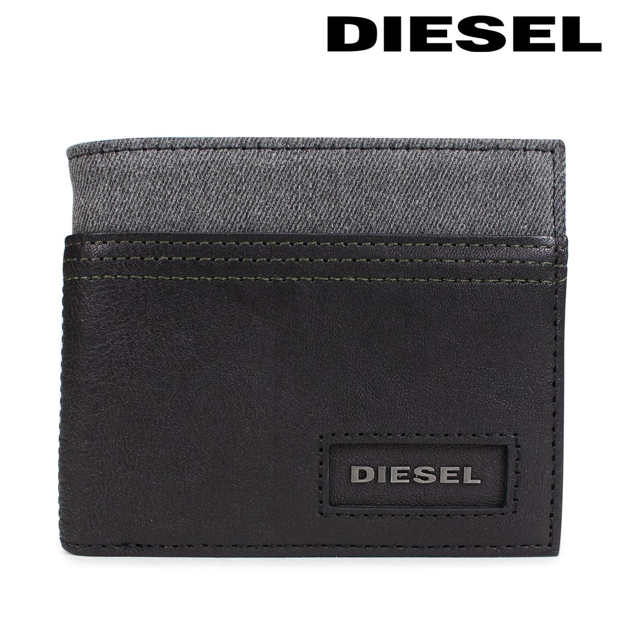 ディーゼル 財布 DIESEL メンズ 二つ折り財布 D SIDE HIRESH S X05575 PR185 H6027 ブラック [10/12 新入荷]