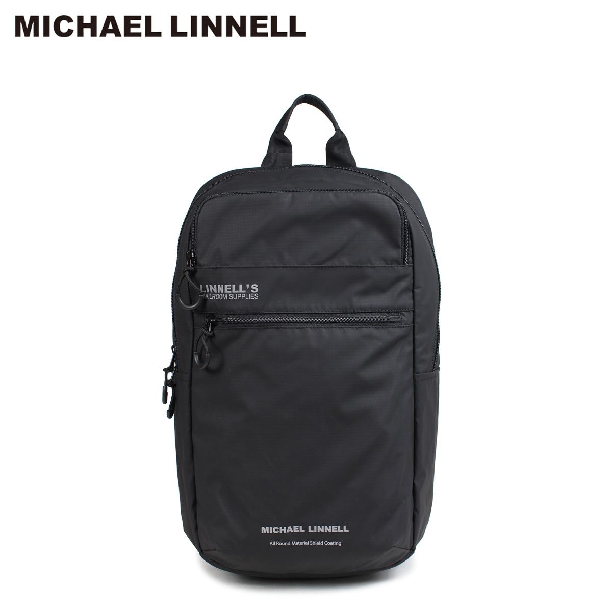 マイケルリンネル MICHAEL LINNELL リュック バッグ 23L メンズ レディース バックパック BACKPACK ブラック MLAC-05 [10/22 新入荷]