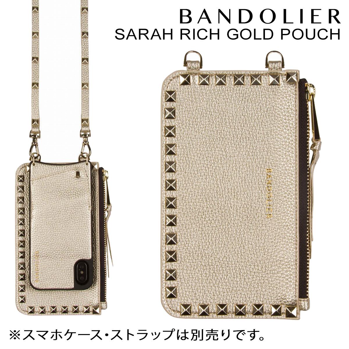 BANDOLIER バンドリヤー ポーチ SARAH RICH GOLD POUCH レザー メンズ レディース ゴールド [10/25 新入荷]
