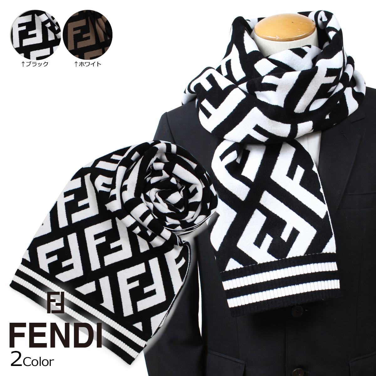 フェンディ FENDI マフラー スカーフ レディース ホワイト ブラウン FXT251 A2QJ [10/24 新入荷]