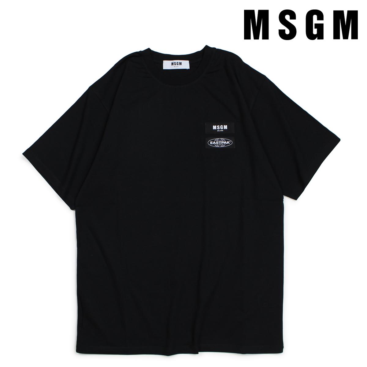 MSGM Tシャツ 半袖 メンズ エムエスジーエム SHORT-SLEEVED T-SHIRT ブラック 2540MM200 184798 [10/19 新入荷]