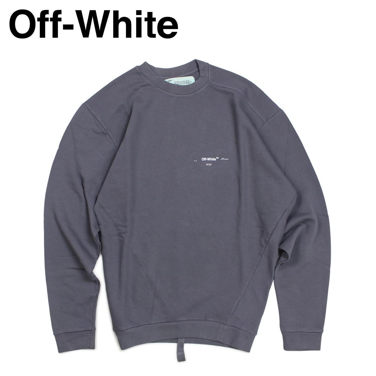 【最大2000円OFFクーポン】 Off-white オフホワイト トレーナー スウェット メンズ COTTON SWEAT SHIRTS グレー OMBA031 192004