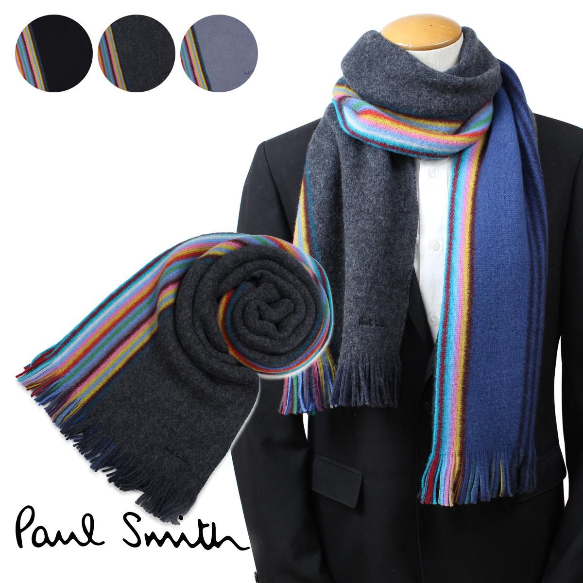 【最大2000円OFFクーポン】 ポールスミス Paul Smith マフラー メンズ ウール マルチカラー 356E-AS10
