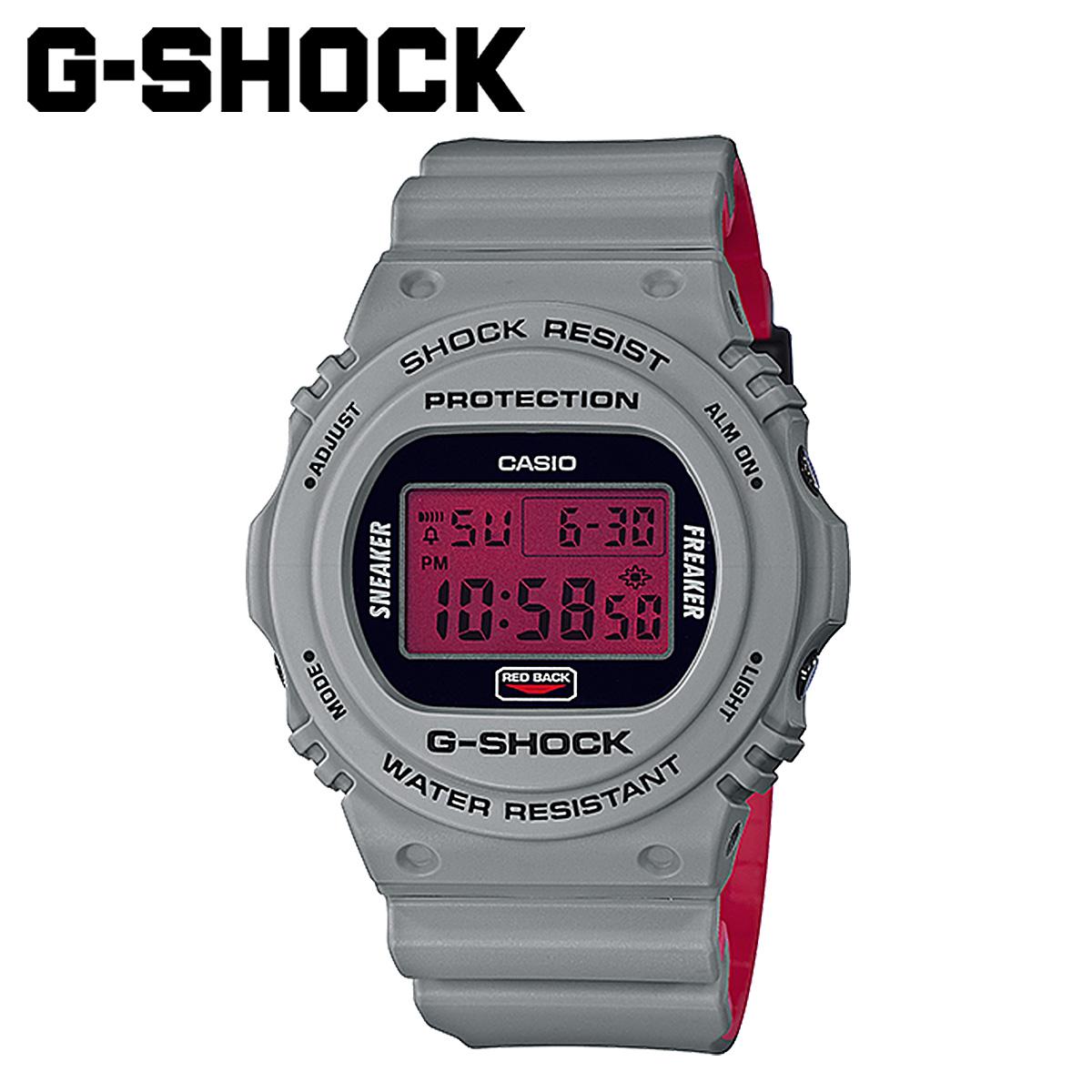 【最大2000円OFFクーポン】 カシオ CASIO G-SHOCK 腕時計 DW-5700SF-1JR SNEAKER FREAKER STANCE コラボ グレー メンズ レディース