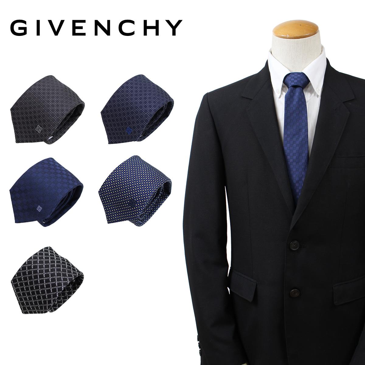 ジバンシー ネクタイ シルク メンズ GIVENCHY ジバンシイ カジュアル ビジネス 結婚式 イタリア製 [2/7 追加入荷]