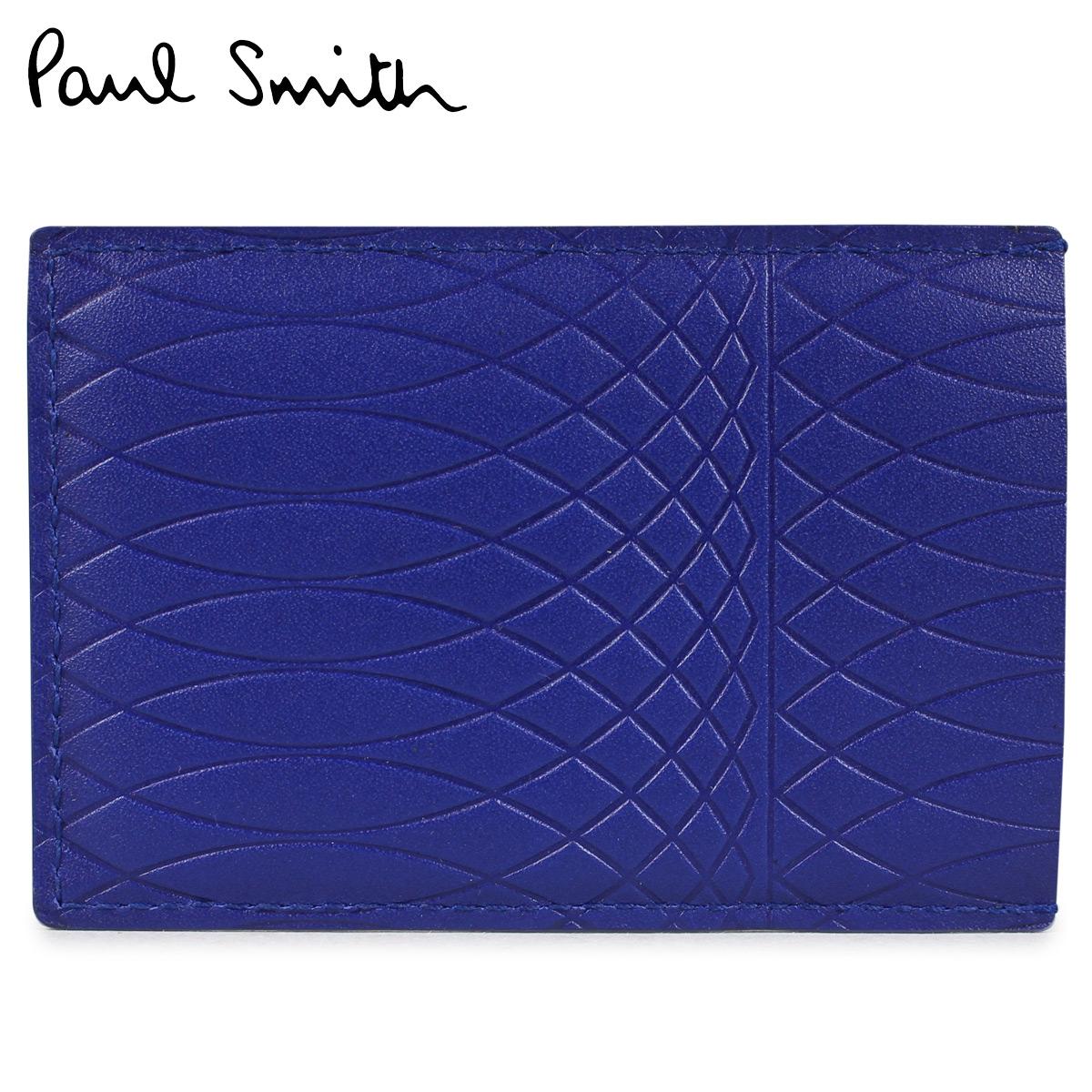 【最大2000円OFFクーポン】 ポールスミス Paul Smith 名刺入れ カードケース メンズ MENS CASE CREDIT CARD HOLDER NO.9 ブルー ANXA 4768 W787
