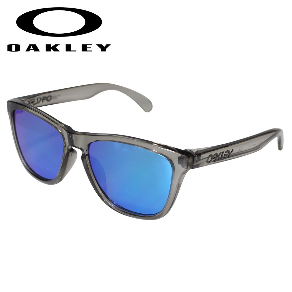 【最大2000円OFFクーポン】 オークリー Oakley サングラス フロッグスキン アジアンフィット メンズ レディース Frogskins ASIA FIT グレーインク OO9245-42