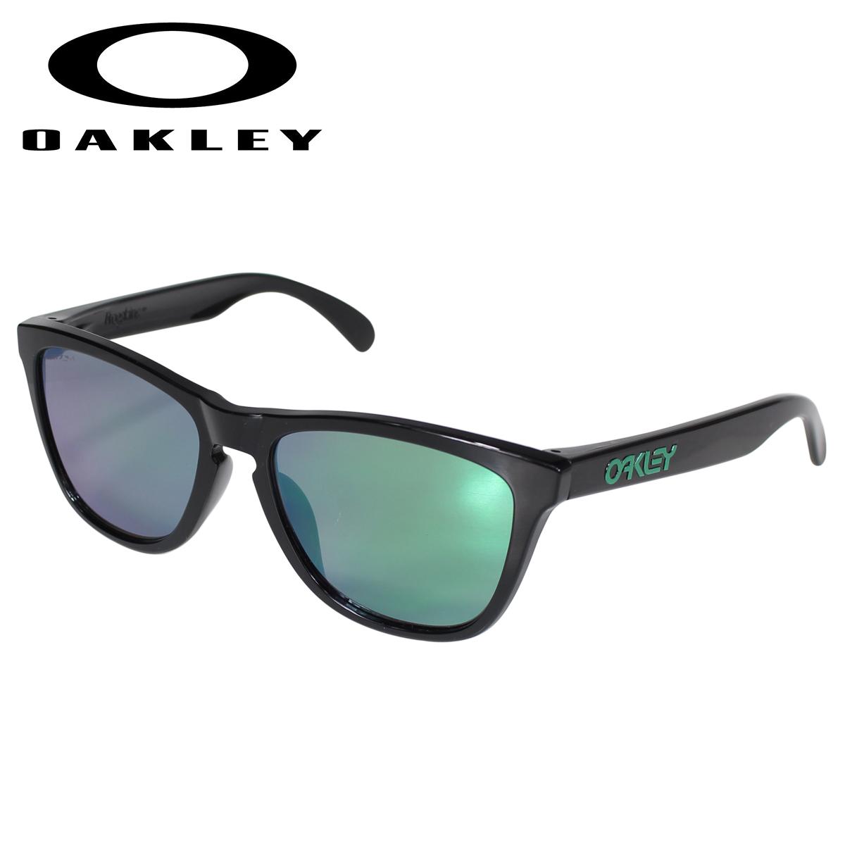 【最大2000円OFFクーポン】 オークリー Oakley サングラス フロッグスキン アジアンフィット メンズ レディース Frogskins ASIA FIT ブラック OO9245-6454