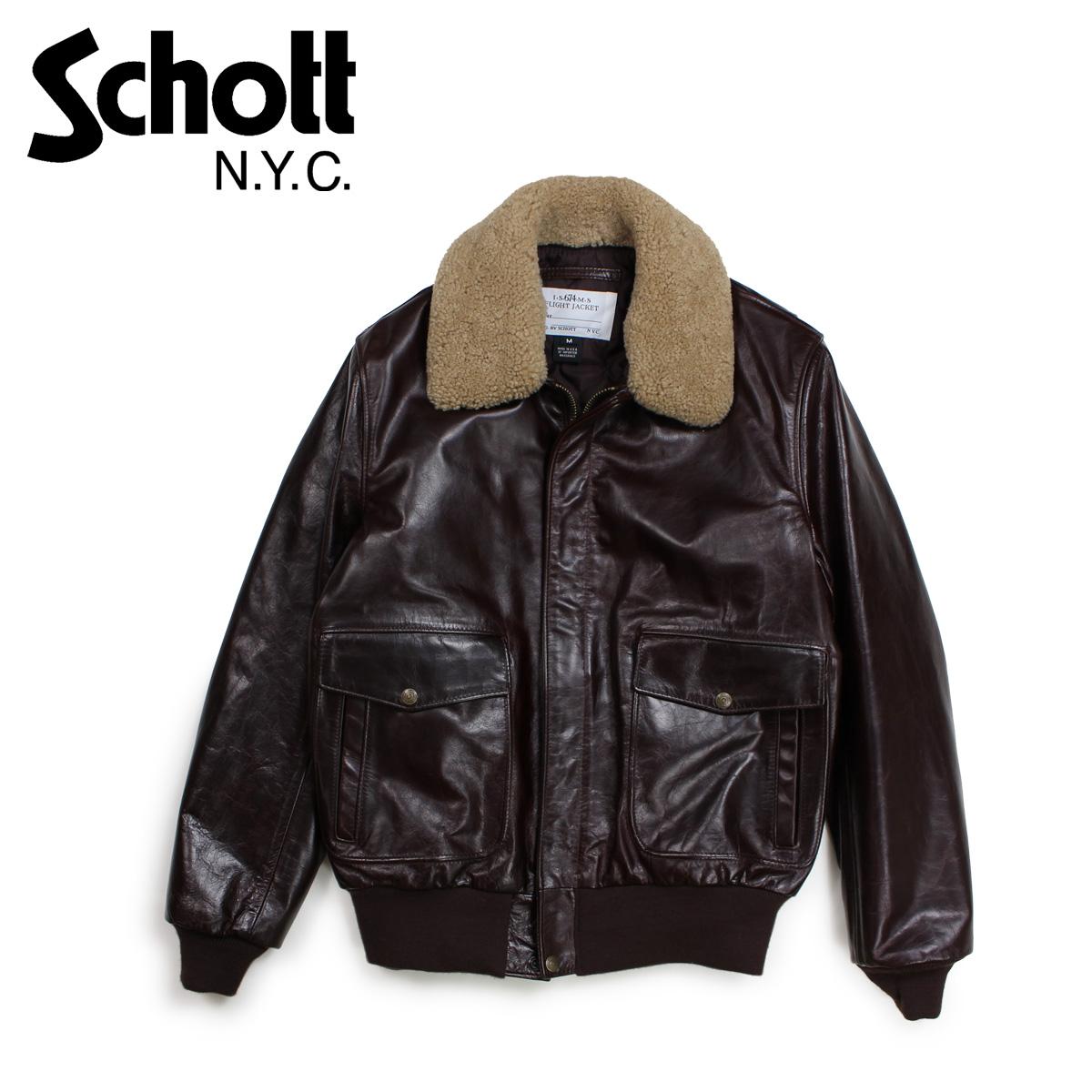 【最大2000円OFFクーポン】 ショット Schott ジャケット ボンバージャケット メンズ MEN COWHIDE BOMBER JACKET ブラウン 534