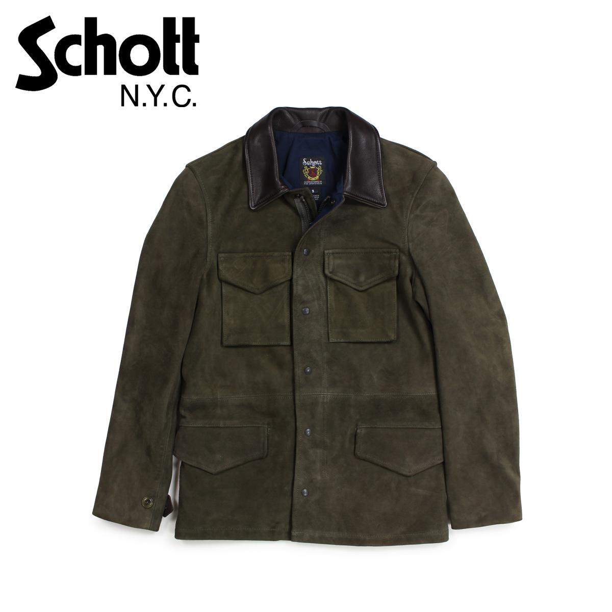 【最大2000円OFFクーポン】 ショット Schott ジャケット M51 ミリタリージャケット メンズ MENS SUEDE M-51 JACKET オリーブ 258